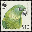 Cl: Black-billed Parrot (Amazona agilis)(Endemic or near-endemic)  SG 1122 (2006)  [5/48]