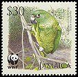 Cl: Black-billed Parrot (Amazona agilis)(Endemic or near-endemic)  SG 1123 (2006)  [5/48]