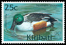Cl: Northern Shoveler (Anas clypeata)(Repeat for this country)  SG 622 (2001)