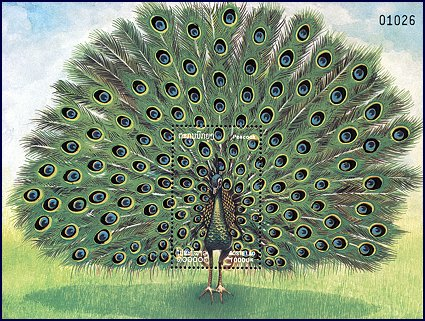 Cl: Green Peafowl (Pavo muticus)(Repeat for this country)  SG 1701 (2000)  I have 1 spare [1/2]