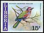 Cl: Rufous-crowned Roller (Coracias naevia) SG 1309 (1977) 95