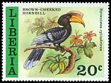 Cl: Brown-cheeked Hornbill (Ceratogymna cylindricus) SG 1310 (1977) 100