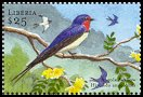 Cl: Angola Swallow (Hirundo angolensis)(Out of range and no other stamp)  new (2001)  [2/4]