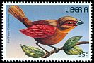Cl: Red-faced Crimson-wing (Cryptospiza reichenovii)(Out of range and no other stamp)  new (1996)