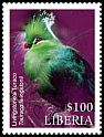 Cl: Livingstone's Turaco (Tauraco livingstonii)(Out of range) (I do not have this stamp)  new (2016)