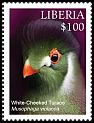 Cl: White-cheeked Turaco (Tauraco leucotis)(Out of range) (I do not have this stamp)  new (2016)