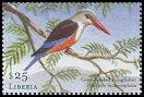 Cl: Grey-headed Kingfisher (Halcyon leucocephala)(Repeat for this country)  new (2001)  [2/12]