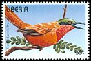 Cl: Southern Carmine Bee-eater (Merops nubicoides)(Repeat for this country)  new (1996)