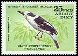 Cl: Hook-billed Vanga (Vanga curvirostris) SG 450 (1982) 25