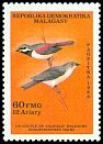 Cl: Red-tailed Vanga (Calicalicus madagascariensis) SG 605 (1987) 20