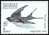 Cl: Barn Swallow (Hirundo rustica) SG 930 (1991)