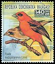 Cl: Red Fody (Foudia madagascariensis)(Repeat for this country)  new (1991)