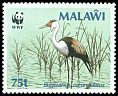 Cl: Wattled Crane (Grus carunculatus)(Repeat for this country)  SG 766 (1986) 450