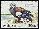 Cl: White-winged Duck (Cairina scutulata) <<Serati Hutan>>  SG 1317 (2006) 70 [5/14]