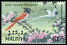 Cl: Asian Paradise-Flycatcher (Terpsiphone paradisi) SG 3680 (2002) 140