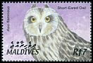 Cl: Short-eared Owl (Asio flammeus)(Repeat for this country)  SG 3688 (2002) 140