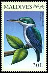 Cl: Collared Kingfisher (Todirhamphus chloris)(Out of range)  SG 3281 (2000) 40