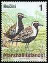 Cl: Pacific Golden-Plover (Pluvialis fulva) <<Kwolej>> (Repeat for this country)  SG 1108 (1999)