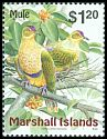 Cl: Crimson-crowned Fruit-Dove (Ptilinopus porphyraceus) <<Mule>>  SG 1123 (1999)