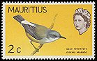 Cl: Mascarene White-eye (Zosterops borbonicus) SG 317 (1965) 15