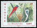 Cl: Madagascar Paradise-Flycatcher (Terpsiphone mutata) <<Les moucherolles>> (I do not have this stamp)  new (2011)  [7/11]