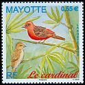 Cl: Red Fody (Foudia madagascariensis) <<Le cardinal>>  SG 246 (2009)  [6/8]