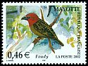 Cl: Red-headed Fody (Foudia eminentissima algondae) <<Foudy>>  SG 173d (2002)