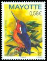 Cl: Malagasy Kingfisher (Alcedo vintsioides) <<Le martin pecheur>> (I do not have this stamp)  new (2011)  [7/13]