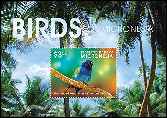 Cl: Blue-faced Parrotfinch (Erythrura trichroa)(Repeat for this country) (I do not have this stamp)  new (2015)