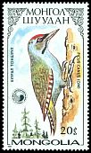 Cl: Grey-faced Woodpecker (Picus canus) SG 1823 (1987)