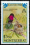 Cl: Purple-throated Carib (Eulampis jugularis)(Repeat for this country)  SG 751 (1988)