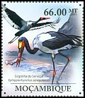 Cl: Saddle-billed Stork (Ephippiorhynchus senegalensis) <<Cegonha do Senegal>> (Repeat for this country)  new (2011)  [7/36]