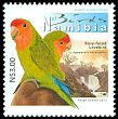 Cl: Rosy-faced Lovebird (Agapornis roseicollis)(Endemic or near-endemic)  SG 1188 (2013)