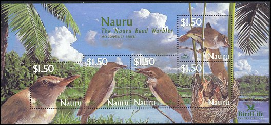 Cl: Nauru Reed-Warbler (Acrocephalus rehsei)(Endemic or near-endemic)  SG 582 (2003)  [2/9]