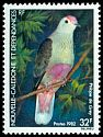 Cl: Red-bellied Fruit-Dove (Ptilinopus greyii) <<Ptilope de Grey>>  SG 684 (1982) 80