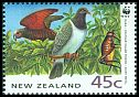Cl: New Zealand Kaka (Nestor meridionalis)(Endemic or near-endemic)  SG 1739 (1993)
