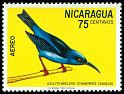 Cl: Red-legged Honeycreeper (Cyanerpes cyaneus) <<Azulito mielero>>  SG 1788 (1971) 40