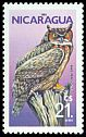 Cl: Great Horned Owl (Bubo virginianus) <<Buho real>>  SG 2729 (1986) 50
