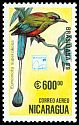 Cl: Turquoise-browed Motmot (Eumomota superciliosa)(Repeat for this country)  SG 3062 (1989)