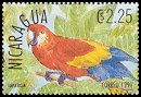 Cl: Scarlet Macaw (Ara macao)(Repeat for this country)  SG 3130 (1991) 100