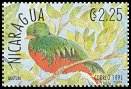 Cl: Resplendent Quetzal (Pharomachrus mocinno)(Repeat for this country)  SG 3131 (1991) 100