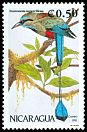 Cl: Turquoise-browed Motmot (Eumomota superciliosa)(Repeat for this country)  SG 3175 (1991)