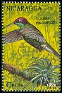 Cl: Magnificent Hummingbird (Eugenes fulgens) <<Colibri magnifico>>  SG 3216 (1992)