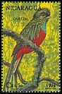 Cl: Resplendent Quetzal (Pharomachrus mocinno)(Repeat for this country)  SG 3220 (1992)