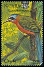 Cl: Blue-crowned Motmot (Momotus momota) <<Guardabarranco>> (Repeat for this country)  SG 3221 (1992)