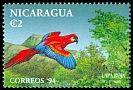 Cl: Scarlet Macaw (Ara macao) <<Lapa roja>> (Repeat for this country)  SG 3454 (1994) 35