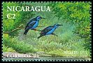 Cl: Red-legged Honeycreeper (Cyanerpes cyaneus) <<Mielero azul>> (Repeat for this country)  SG 3458 (1994)  I have 1 spare [1/55]