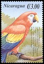 Cl: Scarlet Macaw (Ara macao)(Repeat for this country)  SG 3954a (2000)