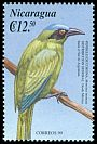 Cl: Blue-crowned Motmot (Momotus momota) <<Pendulo de corona>> (Repeat for this country)  SG 3953 (2000)