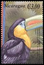 Cl: Keel-billed Toucan (Ramphastos sulfuratus)(Repeat for this country)  SG 3954f (2000)